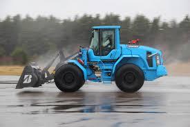 bridgestone tyres carry volvo wheel loader to world speed record