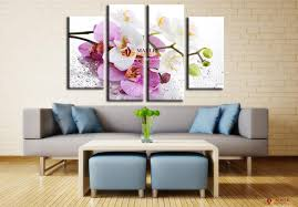 sell canvas wall art pink orchid flowers cheap modern