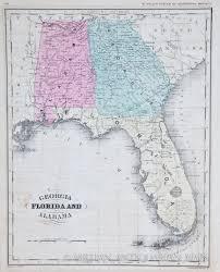 Alabama Maps Map Of Georgia Florida Alabama 1865