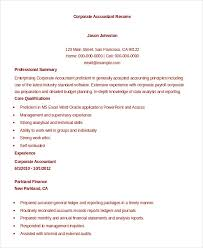 Accounting Resume Experience Accountant Resume 9 Free Word Pdf Documents Download Free