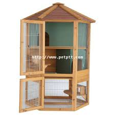 harrisons hexagonal deluxe rabbit hutch 105x88x140cm double