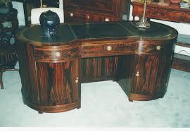 Partner Desk For Sale 8349 Art Deco Macassar Kidney Shape Desk For Sale Antiques Com