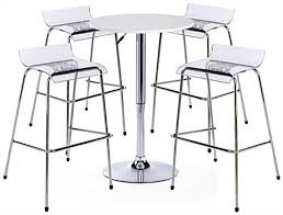 Acrylic Bar Table White Bar Table And Chair Set Includes 4 Seats