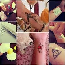 how to diy temporary deathly hallows tattoo tutorial