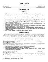 resume template sle student learning esl teacher resume sles best letter sle