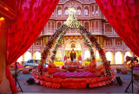 city wedding decorations www weddingguru in a wedding set up at city palace jaipur