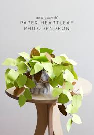 handmade items archives home site diy paper flowers with paper heart leaf philodendron