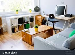 home furniture interior modern room home office interior room foto stock 419760778