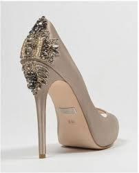 wedding shoes badgley mischka badgley mischka dree ii taupe high heels wedding shoes bridal