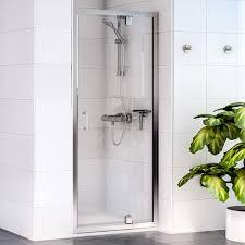 Pivot Shower Door 900mm Aqualux Shine Pivot Shower Door 1160410 900mm Polished Clear