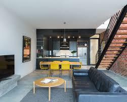 Industrial Living Room Design Ideas Renovations  Photos - Industrial living room design ideas