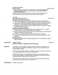 Adjunct Instructor Resume Sample by Engineer Resume