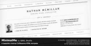 resume html template 20 free and premium resume cv html website templates and layouts
