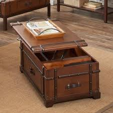 Trunk Like Coffee Table by Steamer Trunk Coffee Lift Top Table Gadget Flow