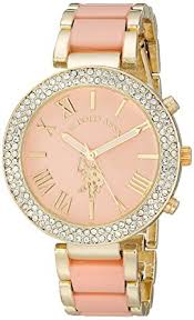bracelet watches womens images U s polo assn women 39 s usc40063 gold tone and pink jpg