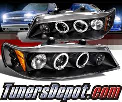 97 honda accord lights spec d halo led projector headlights black 94 97 honda accord