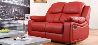 red leather sofas for sale montreal rosso red reclining 2 seater leather sofa reclining sofas