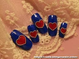 nail art with bullion beads nails by rabbit