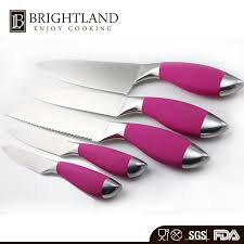 pink kitchen knives professional custom knife pink handle kitchen knife set stainless