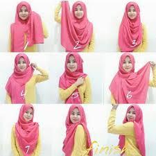 tutorial jilbab dua jilbab 4 contoh gambar cara memakai jilbab segi empat pesta