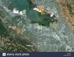 Satellite Map Usa Colour Satellite Image Of San Jose California Usa Image Taken