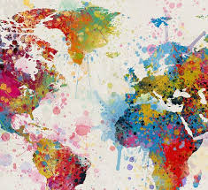 travel world images Extra large watercolor world map world map art travel world map jpg