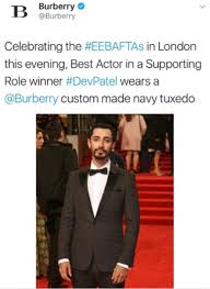Patel Meme - burberry apologise for embarrassing twitter gaffe daily mail