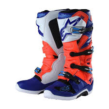 motocross boots alpinestars 2018 alpinestars tld tech 7 motocross boot red flo blue white