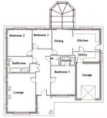 Houzd by 3 Bedroom House Floor Plan Home Design