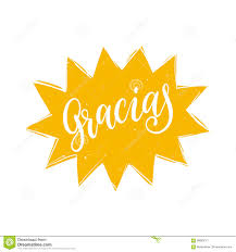 vector gracias calligraphy spanish translation of thank you