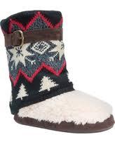 womens slipper boots size 12 savings on s muk luks trisha striped sweater knit