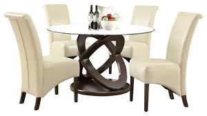 5 pc dining table set monarch specialties 1749 177 5 piece round dining room set in dark