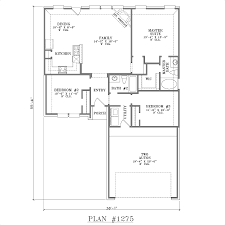 open one story house plans one story house plans with open concept plan 1275 floor plan