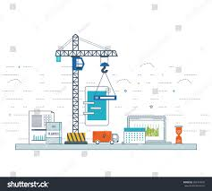 design application development concept ebusiness web stock vector