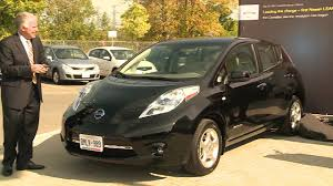 nissan canada office of the president nissan canada delivers first 100 electric nissan leaf youtube