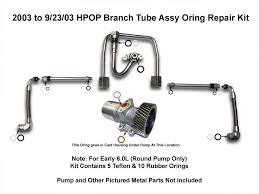 powerstroke diesel hpop high pressure oil branch tube seal 03 04
