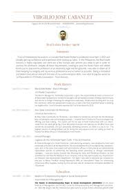 Branch Manager Resume Sample by Real Estate Broker Resume Samples Visualcv Resume Samples Database
