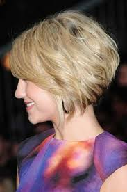 vies of side and back of wavy bob hairstyles layered bob haircut side view of short angled wavy bob hairstyle