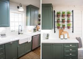 Soft White Kitchen Cabinets Sinks Soft Matte Green Flat Panel Cabinets White Tile In Sink