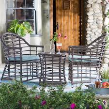 belham living cannes all weather wicker bistro arm chair and table