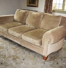 Clayton Marcus Sofa Fabrics by Isenhour Sofa Custom Upholstered In Taupe Chenille Fabric Ebth