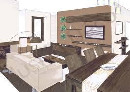 papier peint pour salon salle a manger idee amenagement salon salle a manger