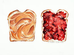 peanut butter jelly watercolour painting 12 x
