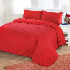 Cotton Quilted Bedspread Plain Poly Cotton Quilted Bedspreads Soft Diamond Reversible