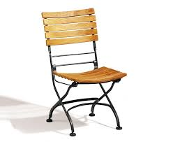 Folding Bistro Chairs Classic Bistro Chair Folding Side Chair Teak Black