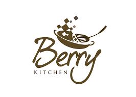 logo design restaurant logo berry kitchen online catering 0
