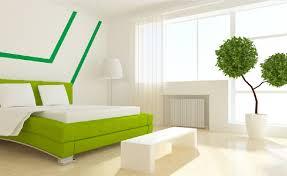 interior design white walls green bed movija videostudio vaše