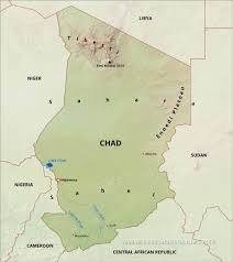 nigeria physical map chad physical map