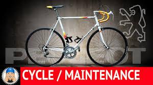 peugeot bike vintage vintage peugeot road bike restoration youtube