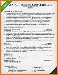 resume examples dental hygiene resume template qualification